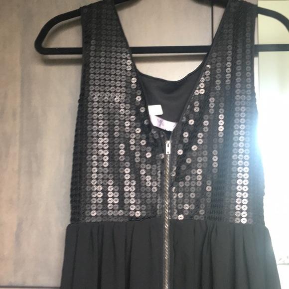 Alya Dresses & Skirts - Black sequin high low dress